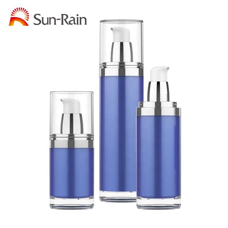סיטונאי 15ml 30ml 50ml כחול צבע אקריליק קוסמטי קרם ומחניק בקבוק