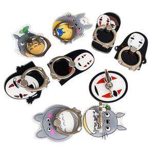 Hot Sell cartoon Hayao Miyazaki Series finger ring Customized Cartoon Acrylic Mobile Phone Cellphone Customized Holder Ring