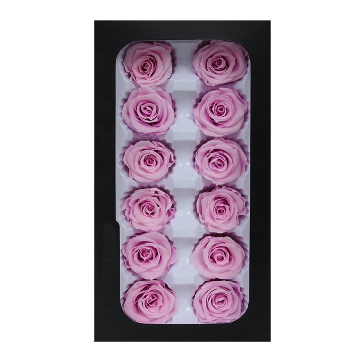 Natural fresh wholesale purple preserved <strong>roses</strong> never withered real <strong>rose</strong> forever <strong>rose</strong> <strong>heads</strong> from kunming