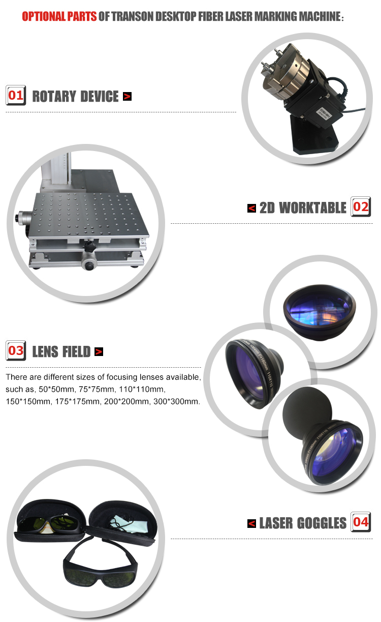 20W Desktop Mopa Colorful Laser Marking Machine For Stainless Steel
