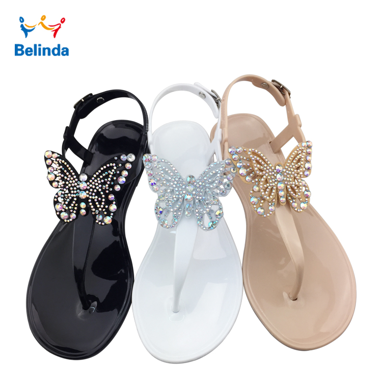 Summer Fashion Women Flat Shoes Latest Simple Butterfly Lady <strong>Sandal</strong>