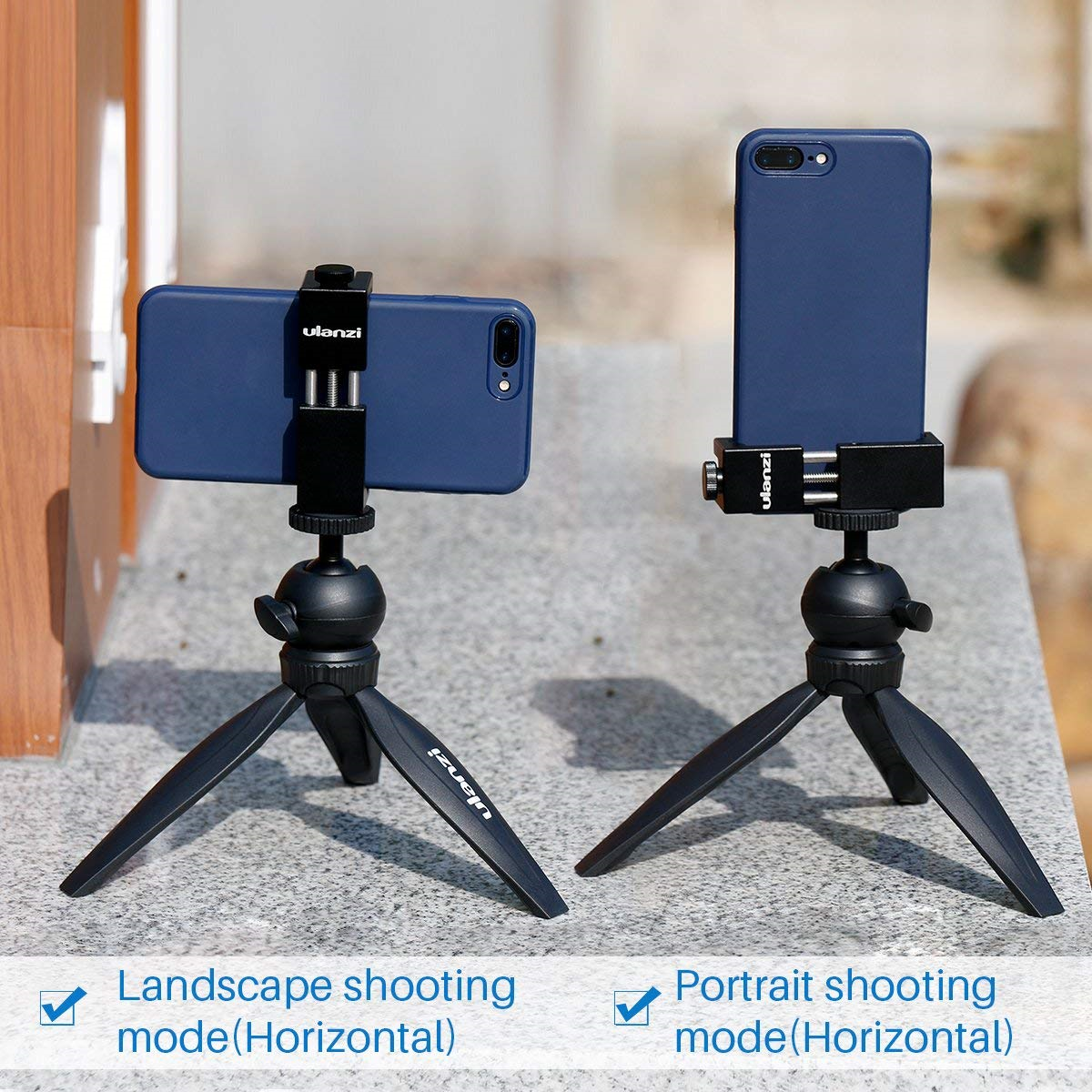 Smartphone Vlog Phone Holder W Cold Shoe for Movie Video Microphone LED Light Ulanzi ST-02S Stand Stabilizer