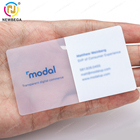 Printable PVC Plastic Clear Transparent Card with Customized Logo