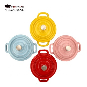 enameled cast iron color mini cocotte in stock enamel cookware