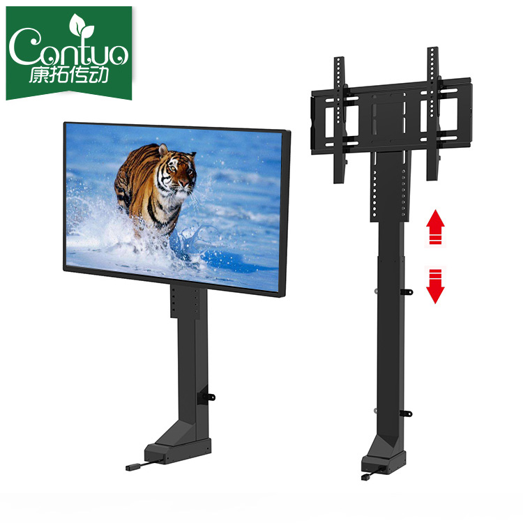 Adjustable Automatic 1000mm Long Tv Motorized Lift Drop-Down Compact Motorized 12v Tv Lift <strong>Stand</strong>