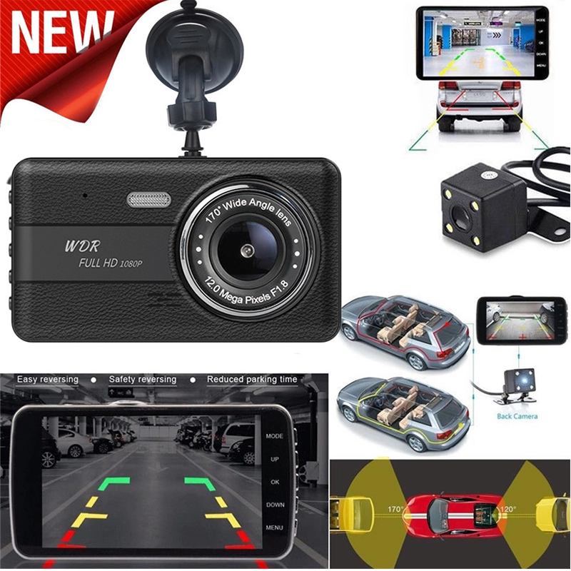 High quality car camera recorder mini dashcam full HD 1080p 170 Degree 4.0 inch vehicle dash cam dvr