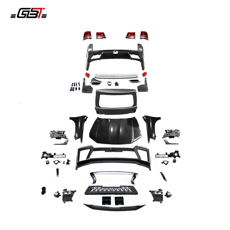 GBT body kit include front rear car bumpers assembly grille and fender year 2008-2015 For Toyota Land Cruiser 200 LC200 E Model