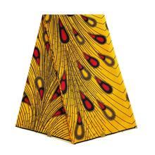 Анкара, африканская ткань из полиэстера с принтом воска, розовый, фиолетовый, настоящий воск, высокое качество, 6 ярдов, африканская ткань дл...(Китай)