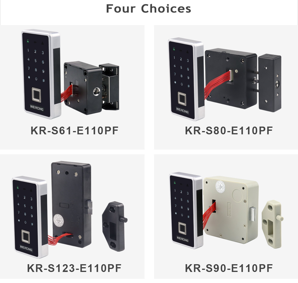 KERONG Smart Electromagnetic Fingerprint Screen Password RFID Spring Locker Latch Lock For Public Office Metal Storage Cabinet