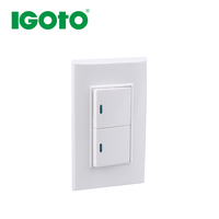 IGOTO B513 CE 2 Gang 1 way switch Large board american standard wall socket italy style electrical switch wifi light switch