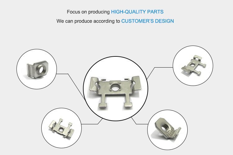 Custom Design Precision Stamping Mounting Stainless Steel pipe brackets