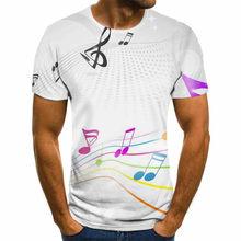 Мужская музыкальная футболка с 3D-принтом, повседневная металлическая футболка с коротким рукавом, Готическая аниме-одежда, футболки с коро...(Китай)