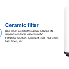 Ceramic Water Filter Element Water Filter Filter Water Filter Ceramic Element Water Purifier Replacement Filter Remove Odor And Color