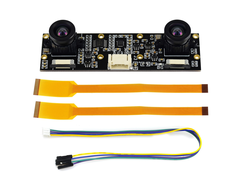 Waveshare IMX219-83 Stereo Camera for Jetson Nano Developer Kit B01 version, 8MP Binocular Camera Module, Depth Vision
