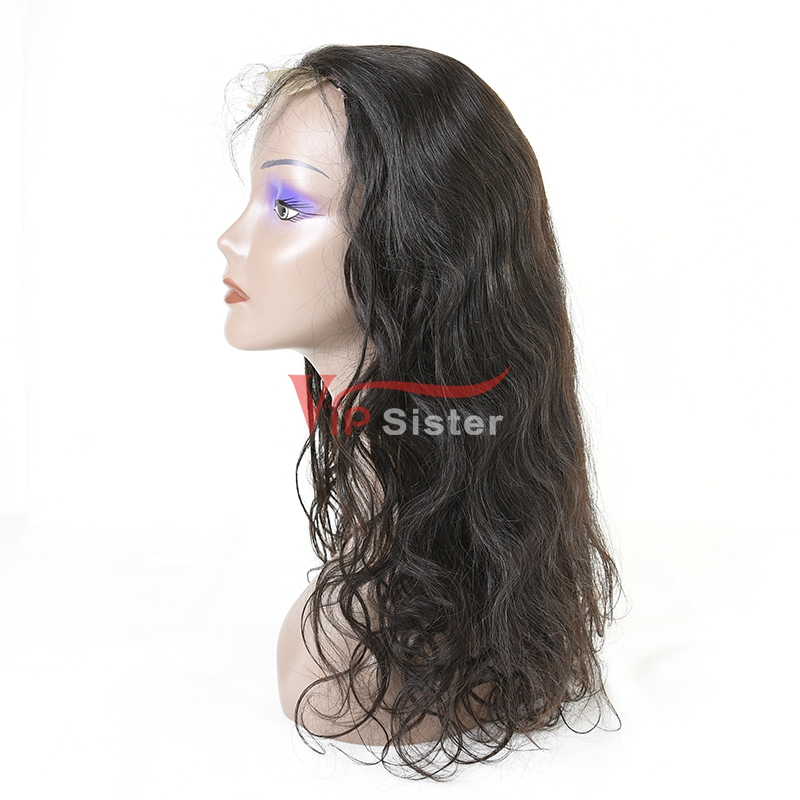 5A top quality best price human hair wigs body wave glue less full lace wig