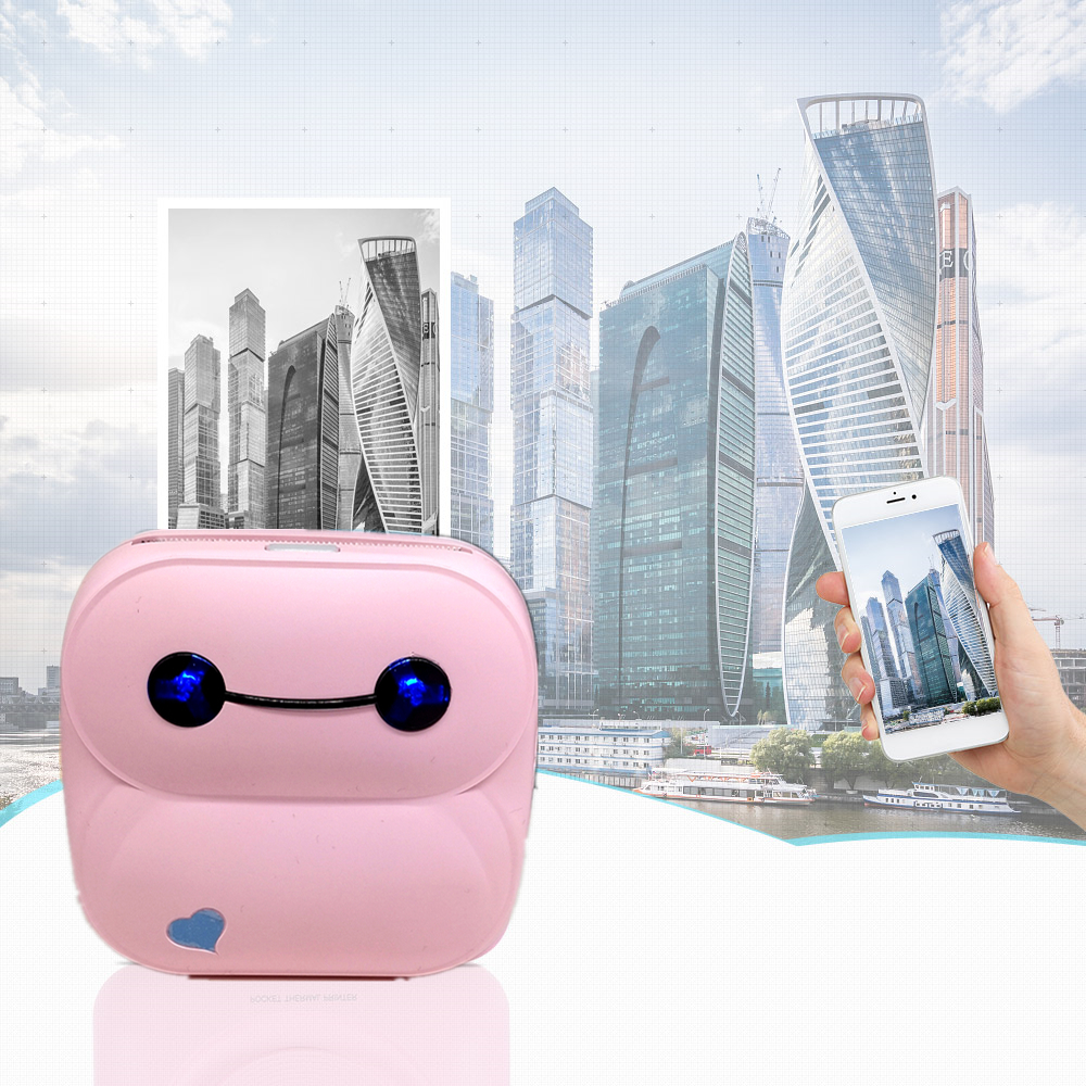 mini Portable bluetooth wifi Pocket photo printer for smart phones