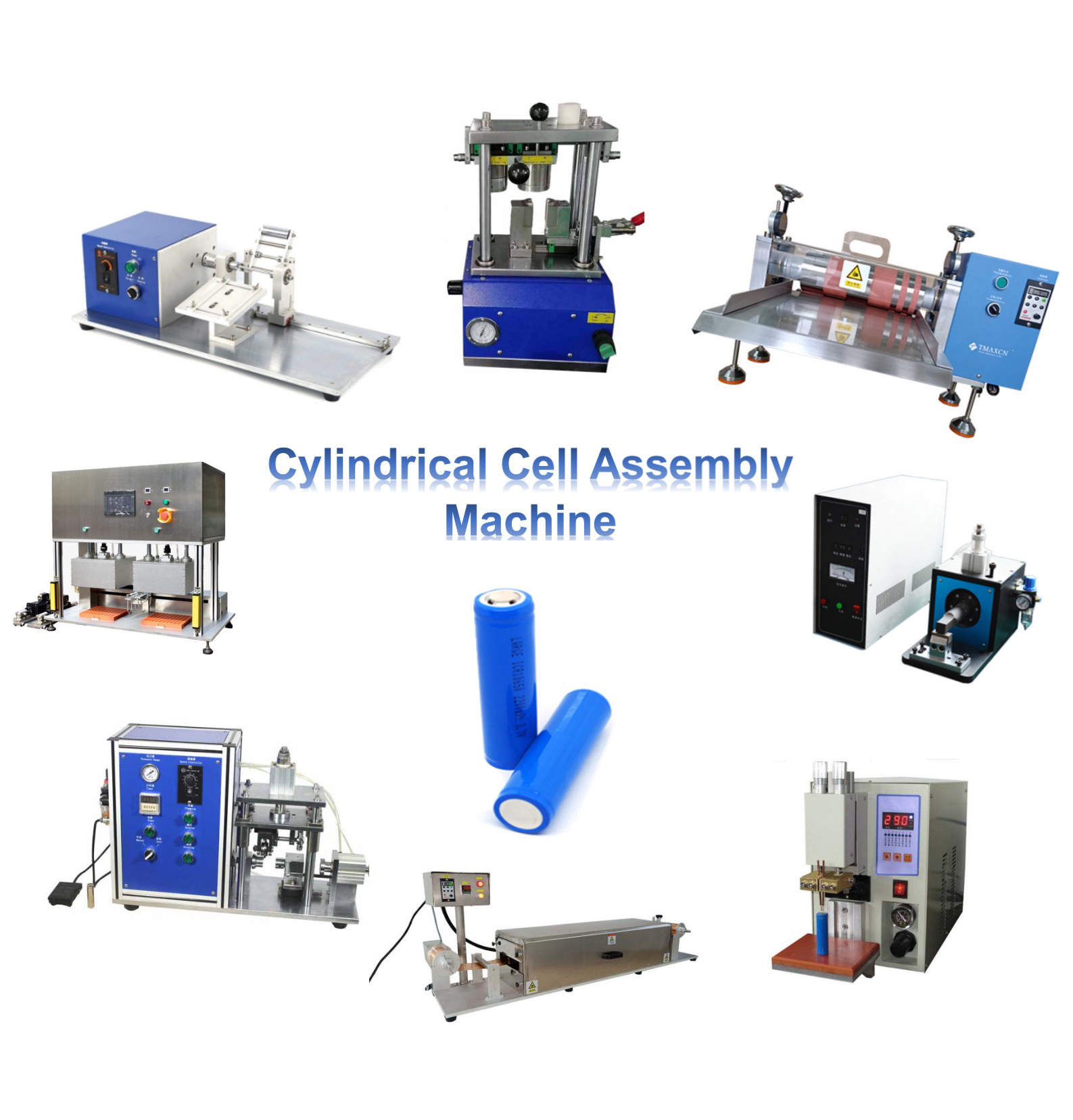 18650 26650 32650 21700 Cell Making Machine Cylindrical Cell Lab Equipment/ Assembly Machine for Li ion Battery Making