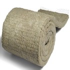 ASTM C592 rockwool mineral wool roll fiber thermal insulation rock wool blanket with wire mesh