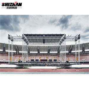Aluminum decorative ground support truss lighting system