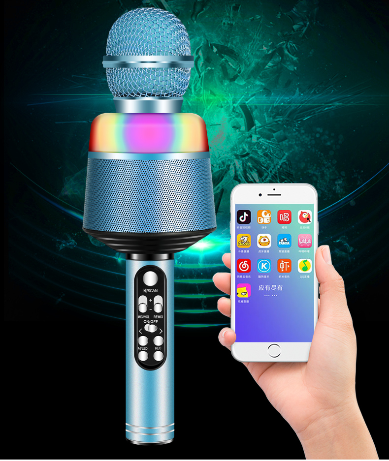 Professionele telefoon bluetooth speaker microfoon party ktv uhf draadloze kids microfoon