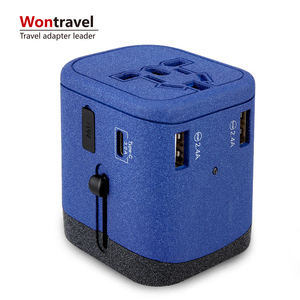 HOT world travel adapter Mobile Phone Accessories 4 Usb Type C Home 4.5A Fast Charger