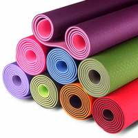 "Amazon Eco-friendly TPE Material 1/4 Inch Thick Yoga Mat for Men, Women, Kids - 72"" x 24"" Inches - Strap Carrier Included"