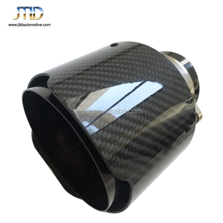JTLD high Performance exhaust system pure glossy slant Carbon fiber Exhaust Tip for ak