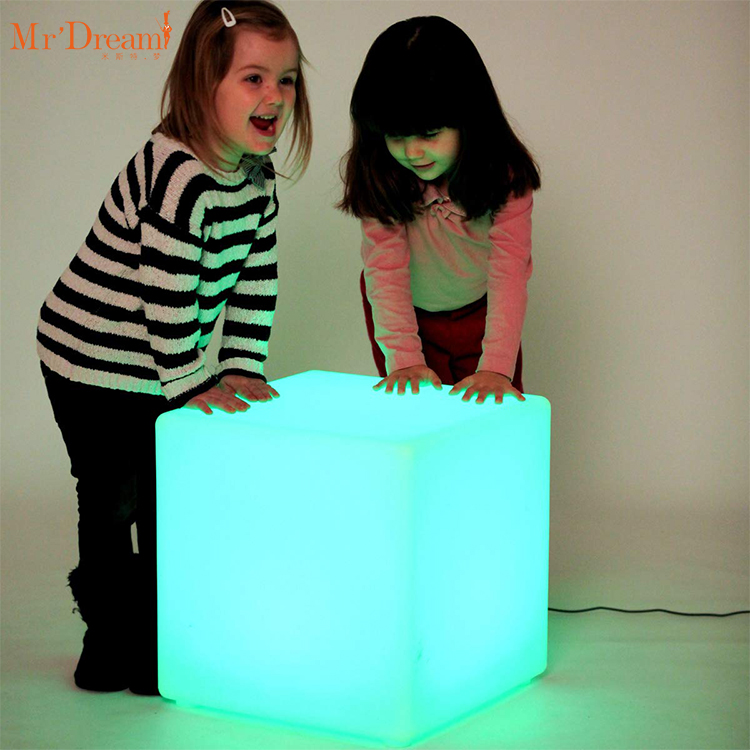 Foshan industrial RGB color changing inflatable led decorative 40X40X40 outdoor waterproof led cube lamp