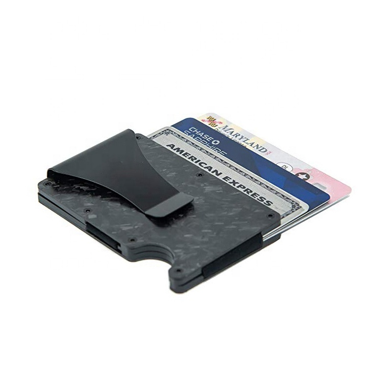 Minimalist Forged Carbon Fiber Card Holder Wallet RFID Blocking Slim Wallet Credit Card Holder