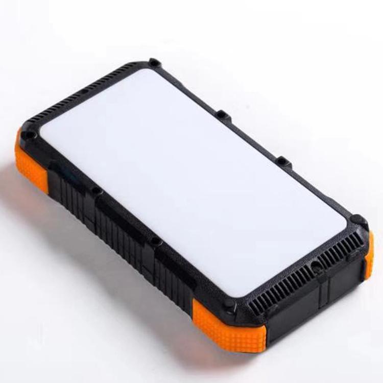Banco de energía solar 20000mah al aire libre portátil rápido Qi cargador inalámbrico usb led de luz E33
