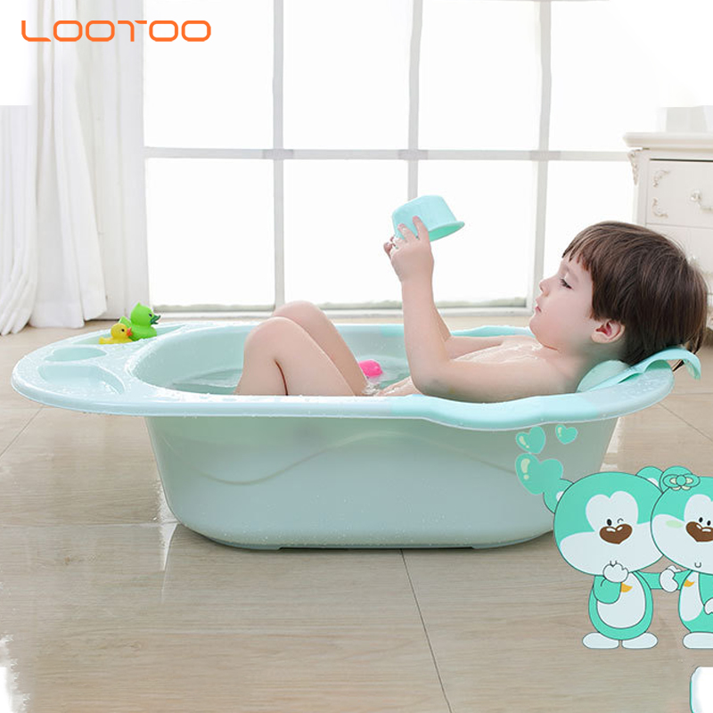 Plastic high quality babyhood care freestanding deep seat support baby bathing bucket bathtub for new born