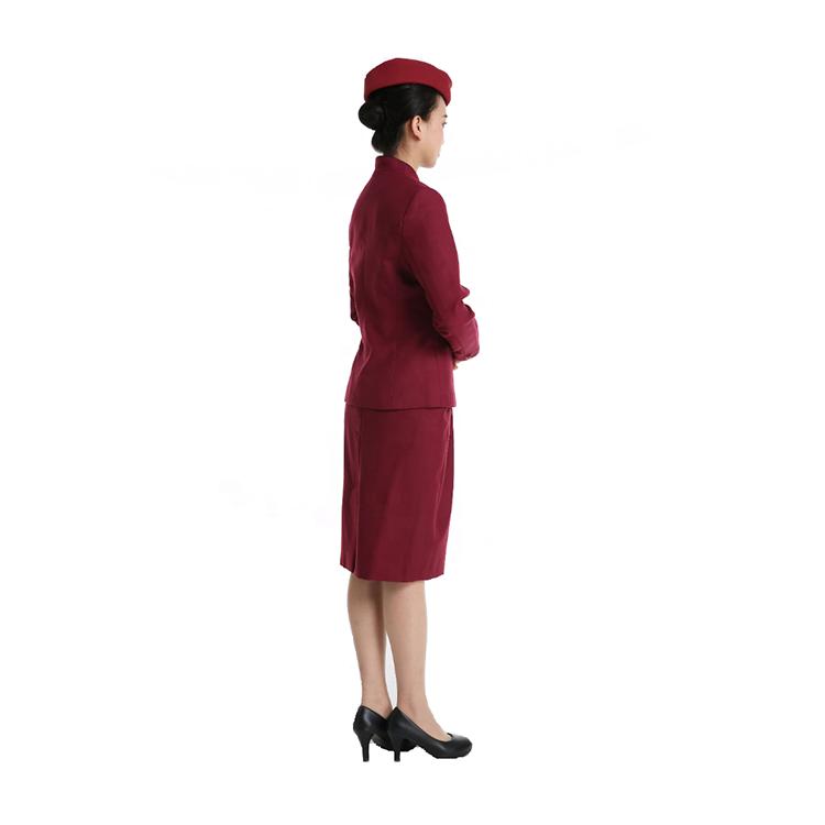Custom Fashionable Flight Attendant Uniforms Air Asia Airhostess Suits For Sale