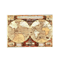 customized size Wholesale Fine Art Print Vintage World Map wallpaper