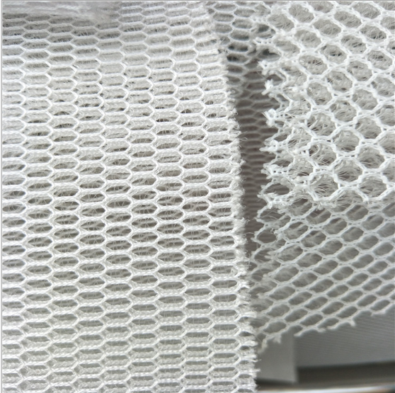 China textiles factory textile polyester white 3d air mesh <strong>fabric</strong> for Home textile