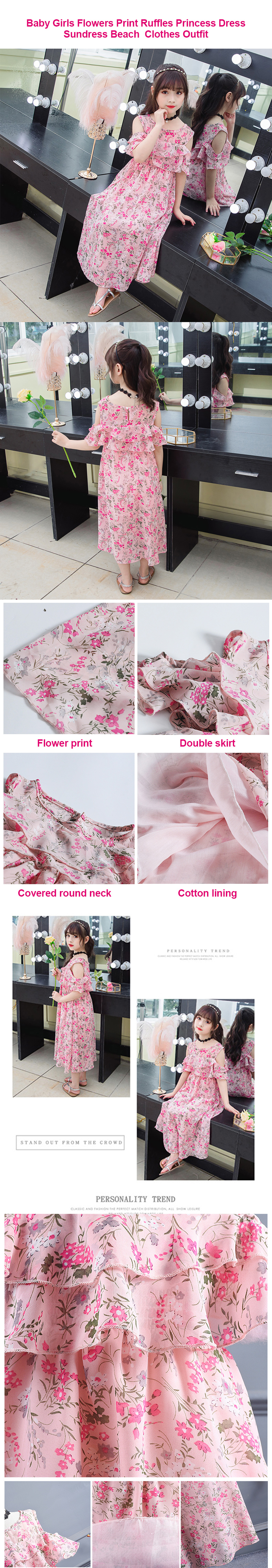 2020 alibaba wholesale price summer beach chiffon flower kid girl dress uo to 13 years old vintage pink flower girl dresses