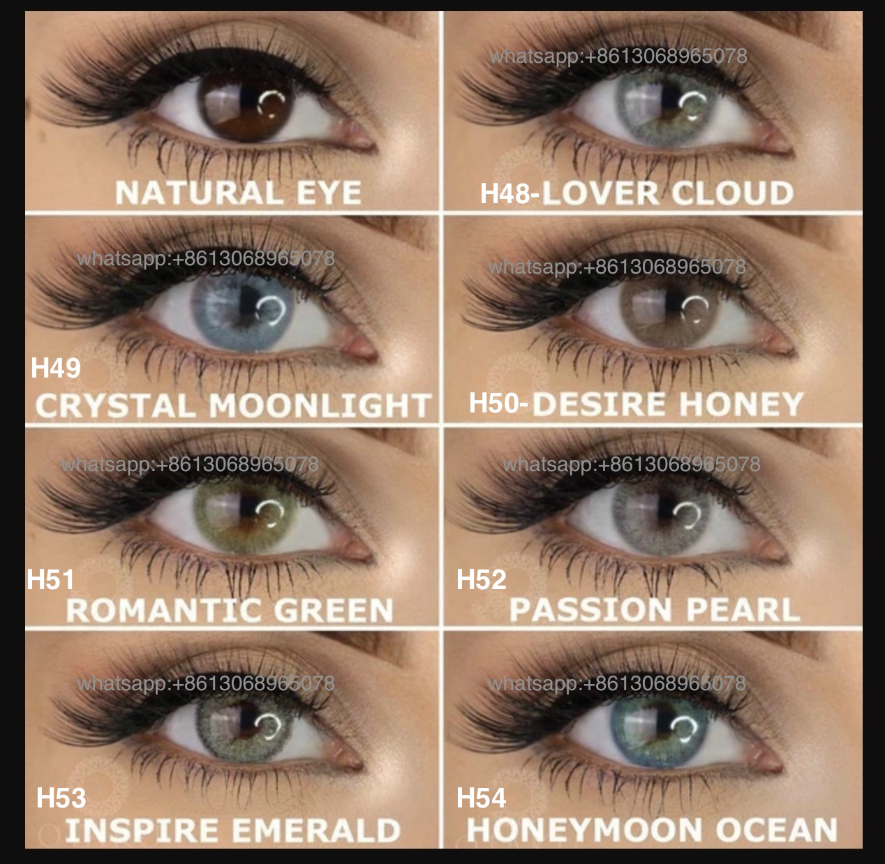 Otaku Contact Lens Wholesale Best High Quality Nature Look Color ...