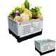 Heavy loading moving perforated collapsible plastic pallet crate,cheap fresh fruit vegetable mesh straight storage folding crate