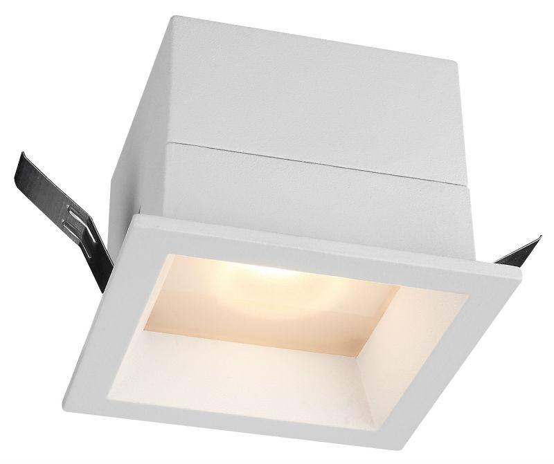Square glass Diffuser Downlight 7watt trim LED downlights Recessed Bathroom led Lighting