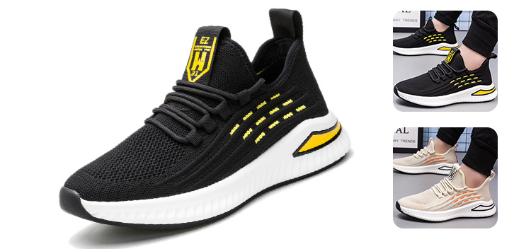 2020 new arrival trend black lightweight outdoors jogging student men running gym training shoes sport