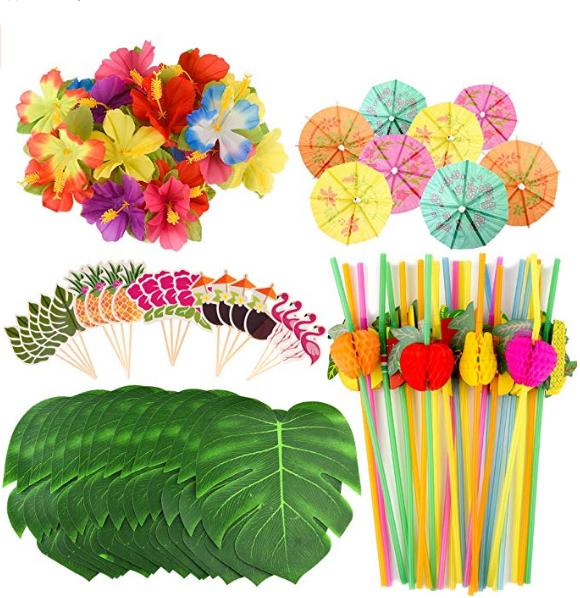 144 Papel Surtido Color Fiesta cóctel paraguas selecciones-tropical Decoraciones