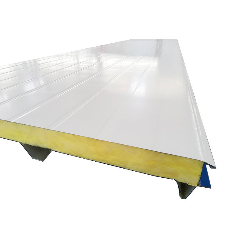 Prefabricated metal corrugated glass wool exterior fencing <strong>panel</strong> for warehouse building