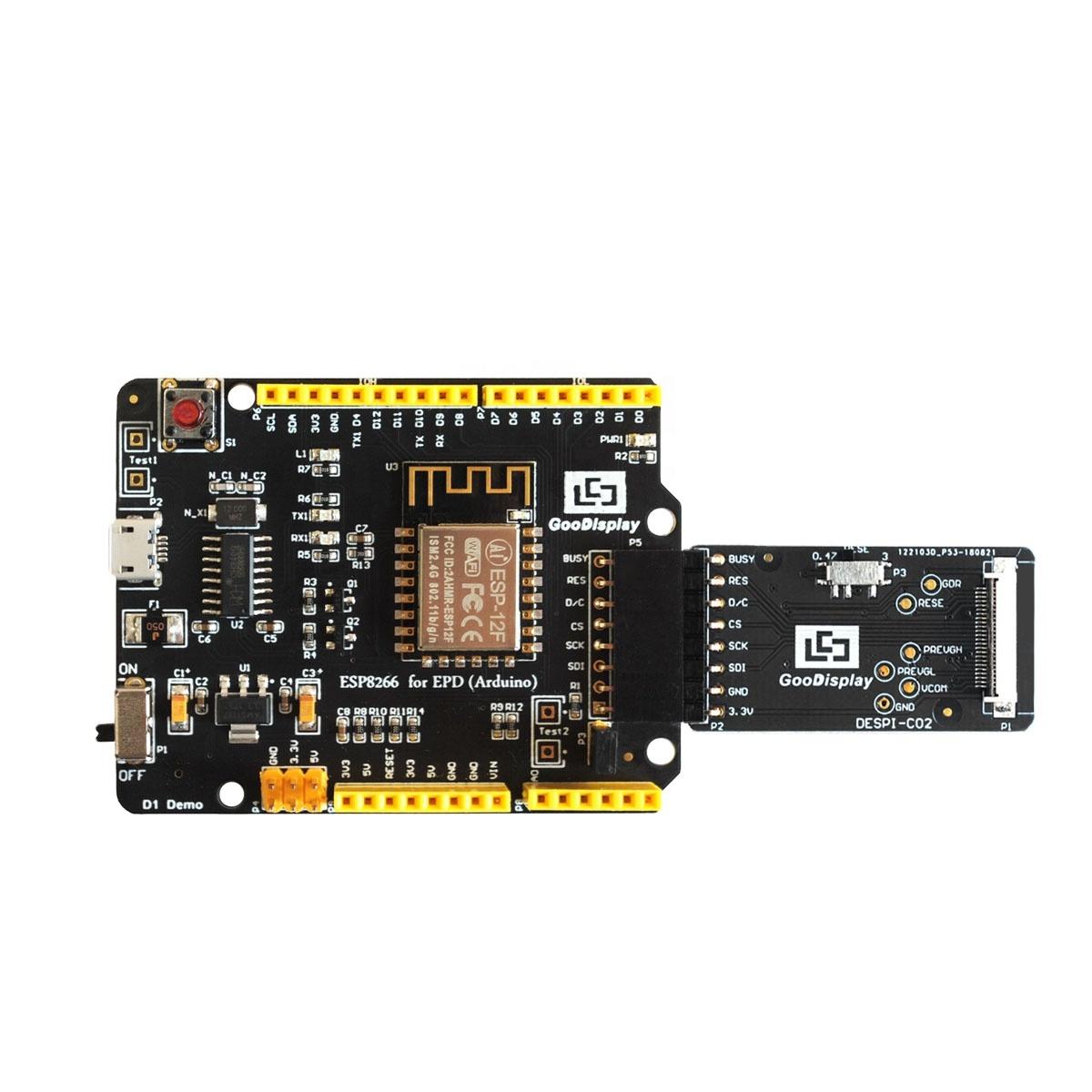 Goodisplay 1 ''e-mürekkep ekran Wi-Fi sürüş kurulu ve konektör kartı