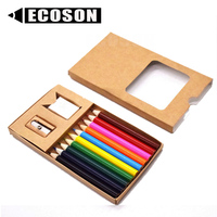 Small Items 2020 Mini Pencils Customized Colour Pencil Mini Wood Crayons Small Wooden Colouring Colored Pencils Set Kraft
