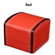Квадратный мешочек для украшений модная коробка для одной пары часов искусственной кожи подарочная коробка-дисплей класса люкс Портативны...(Китай)