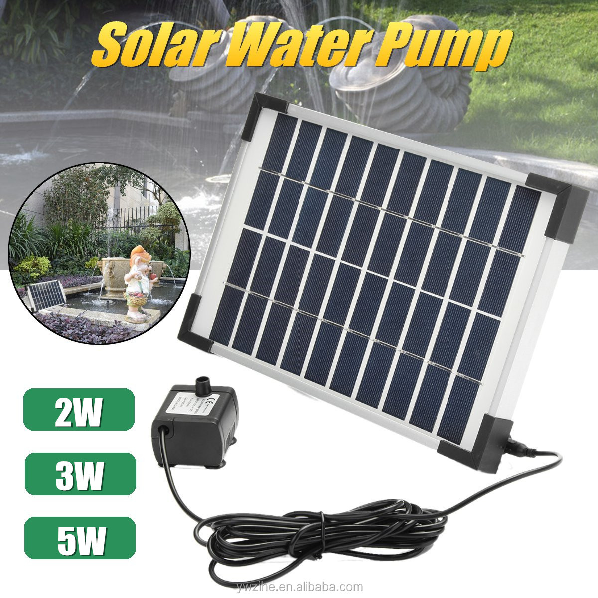 Solar Waterpomp Power Panel Kit Zwembad Dompelpompen Fontein Tuin Planten Watering Power Fontein Vijver Tuin Outdoor Decor