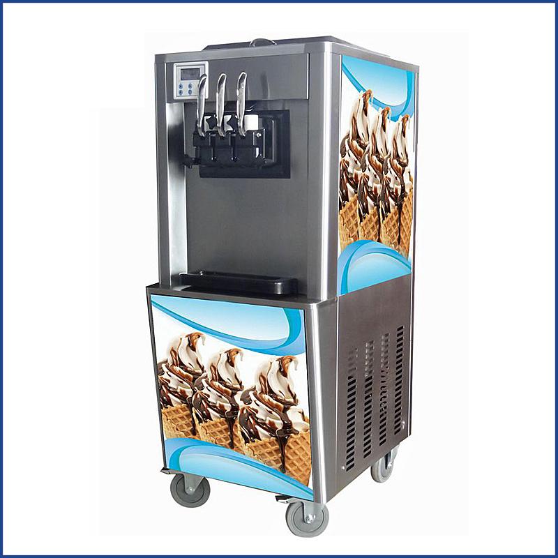 3 flavors commercial soft ice cream machine stainless steel frozen yogurt machine