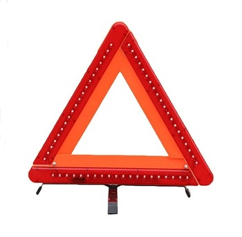 Universal Auto Car LED Red Reflective Led Strips Reflective Tape Reflectors Emergency Stop Sign Warning Triangle
