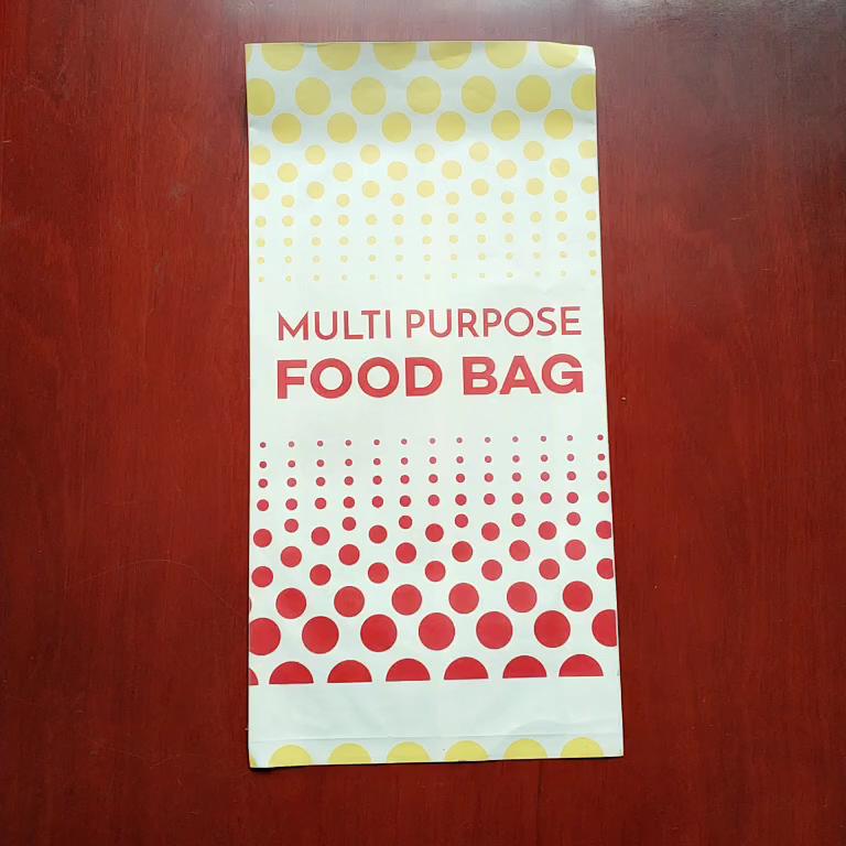 Vetvrij Voedsel Verpakking Zakken Voor Gebraden Voedingsmiddelen, Snelle Voedingsmiddelen, Fda Goedgekeurd