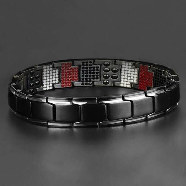 E17 Wholesale Women Man Silver Gold Plated Health Care Therapy Bracelet Lovers Heart Health Energy Magnetic Bracelet