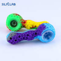 Fashion creativity silicone metal smoking pipes funny pattern weed tobacco pipe